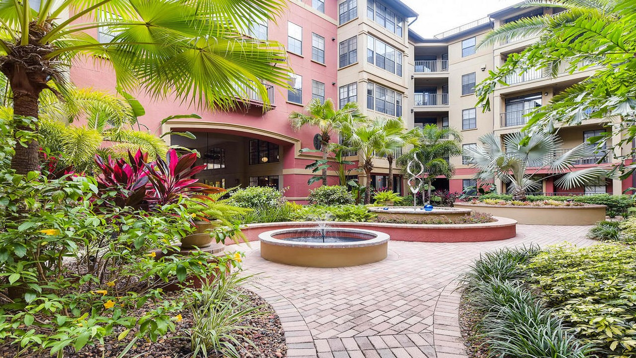 Uptown Place Condo Interior Courtyard