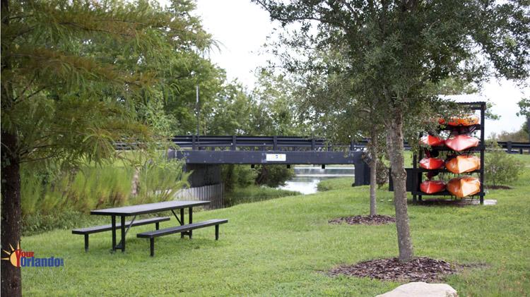 Casselberry, Florida - Kayak launch at Secret Lake Park