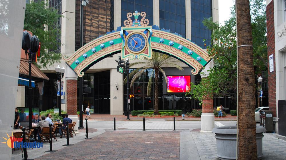 Orlando Florida   Wall Street Plaza in downtown Orlando
